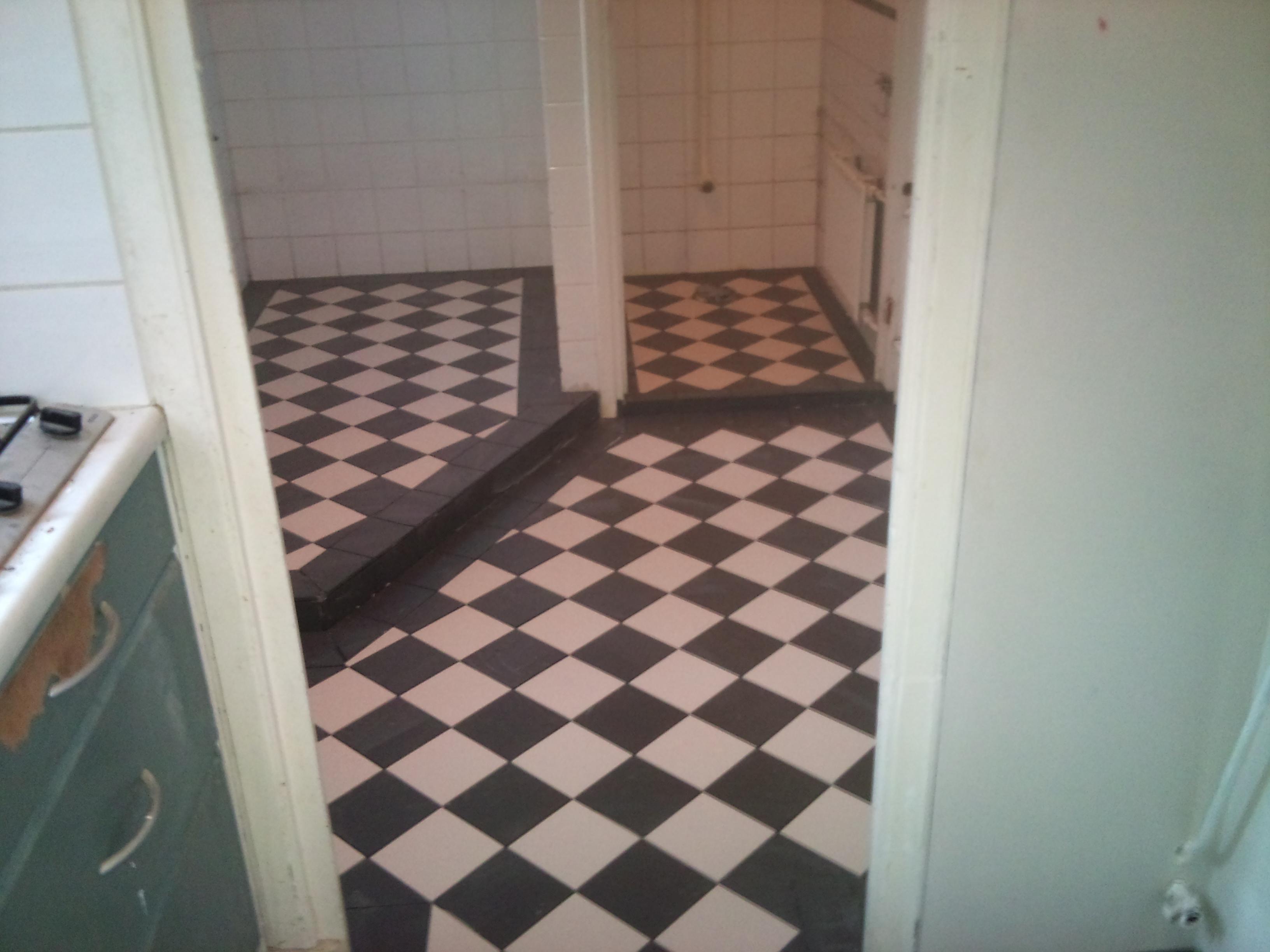 Zwart wit vloer keuken inspiratie het beste interieur - Keuken zwarte tegels en witte ...